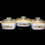 Vintage Corning Spice O' Life Casserole Set