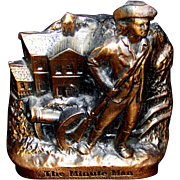 Vintage Banthrico Minute Man Metal Coin Bank