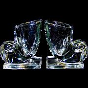 Vintage Martinsville Cornucopia Glass Bookends
