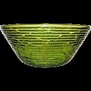Vintage Anchor Hocking Soreno Avocado Green Bowl