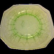 Vintage Federal Glass Madrid Green Dinner Plates