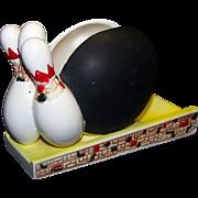 Vintage Rubens Originals Glazed Ceramic Bowling Game Ashtray