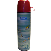 Vintage 1960 King Seeley Trout Flies Thermos