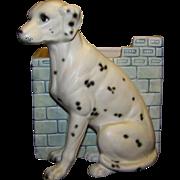 Vintage 1962 Ceramic Inarco Dalmatian Dog Planter