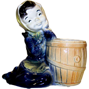 Vintage Royal Copley Ceramic Maid With Water Bucket