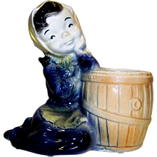 Vintage Royal Copley Ceramic Maid With Water Bucket