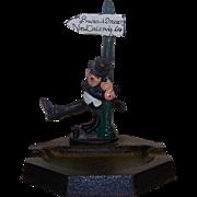 Vintage John Wright Figural Cast Iron Ashtray