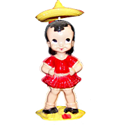Vintage Wind-Up Mechanical Plastic Dancing Senorita By Irwin Toys