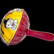 Vintage 1920's Kirchhof Clown Tin Litho Hand Noisemaker