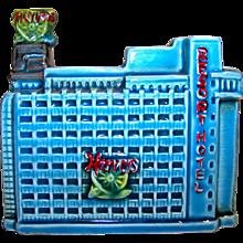 Vintage Ceramic Harvey's Resort Hotel Coin Bank