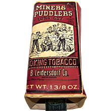 Vintage Miners Puddlers Long Cut Smoking Tobacco Package