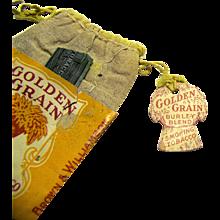 Vintage Golden Grain Smoking Tobacco Ten Cent Pouch