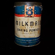 Vintage Merchandise Milk Made Baking Powder