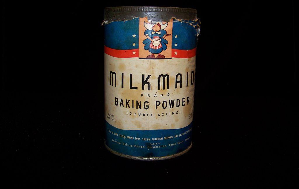 Vintage Merchandise Milk Made Baking Powder