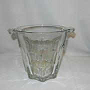 Vintage Glass Ice Bucket- Tab Handles