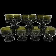 Vintage Franciscan Madeira Olive Green Sherbet  Glasses