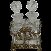Vintage Apollo Brass Double Perfume Holder