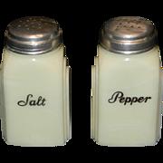 Vintage McKee Roman Arch Custard Salt & Pepper Shakers