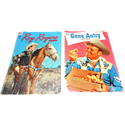 Vintage Western Comic Books Roy Roger and Gene Autry