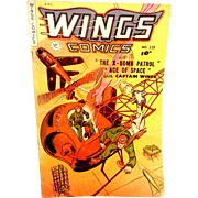 "Vintage 1951 Wings #115 Comic Book ""X Bomb Patrol"""