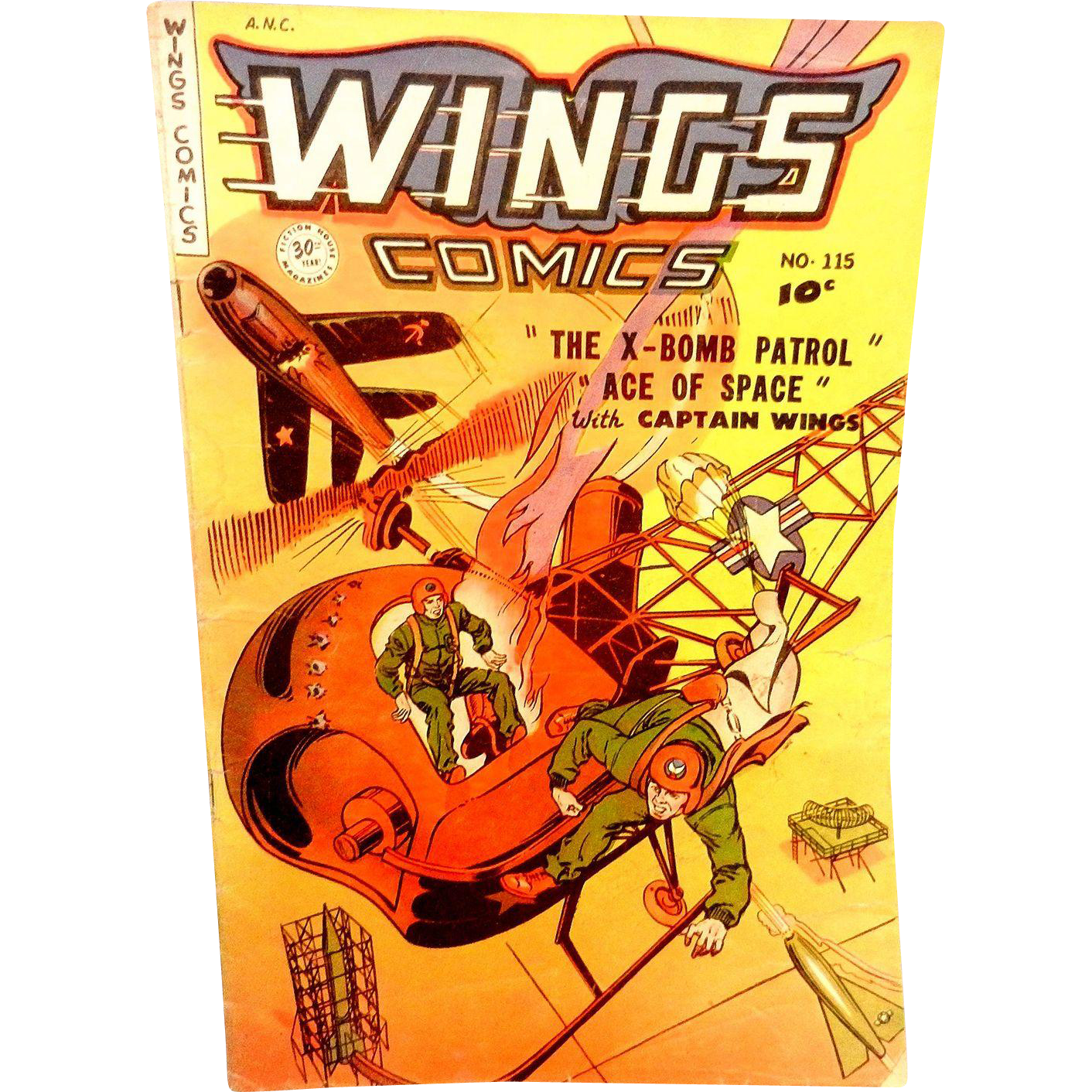 Vintage 1951 Wings 115 Comic Book Quot X Bomb Patrol Quot From