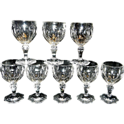 Vintage Thumbprint Crystal Wine or Water Stemware