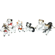 Vintage Dogs and Cats Christmas Tree Orniaments