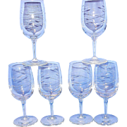 Vintage Crystal Wine Glasses