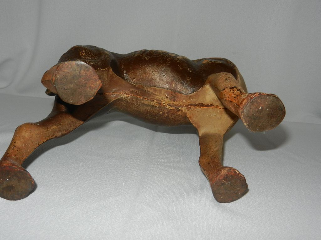 Roll over Large image to magnify, click Large image to zoom - Original Antique Hubley Cast Iron Left Facing Boston Terrier