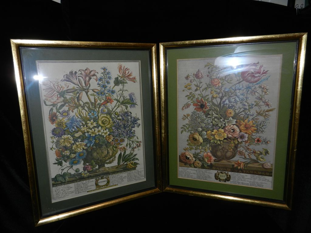 Vintage Furber Lithograph – May and October of the 1730 Seed Catalog