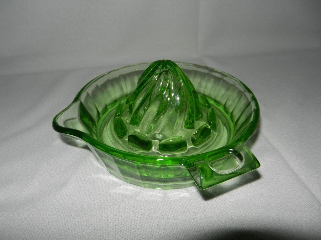 Vintage Uranium Glass Reamer