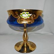 Vintage Moser Blue Compote