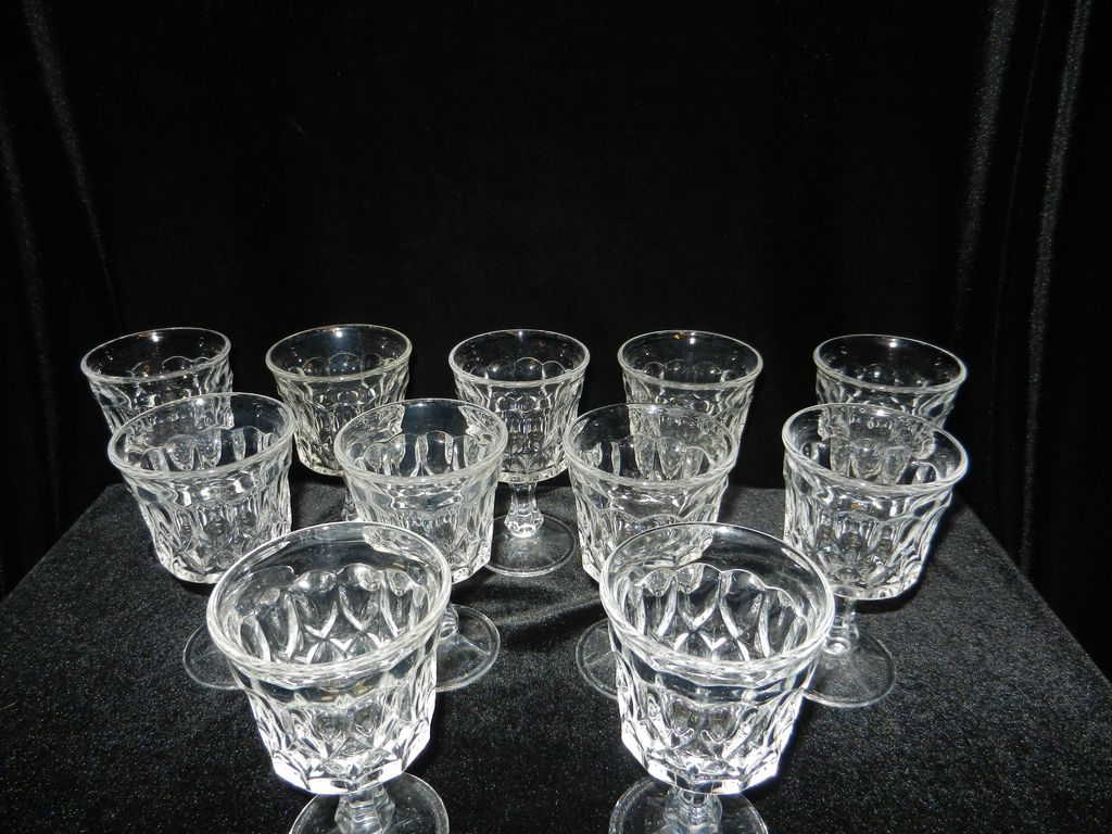Vintage Noritake Perspective Crystal Wine Glasses