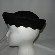 Vintage Bode Felt Evening Hat