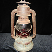 Vintage Dietz Little Wizard Lantern -Red Globe- 1914-1918
