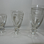 Vintage Stemware- Wine, Cordials and Liqueur