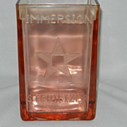Vintage Pink Glass Medicine Immersion Sterilizer Jar - Red Tag Sale Item