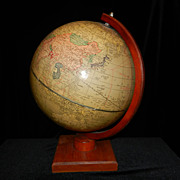 Vintage Cram's 12 inch Universal Terrestrial Globe -1949-52 - Red Tag Sale Item