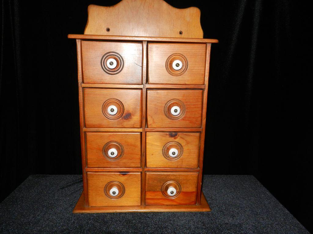 Vintage Primative Wooden  Spice Cabinet