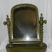 Vintage  Wood Vanity or Shaving Mirror