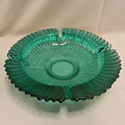 Vintage Large Aqua Blue Ashtray