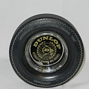 Vintage 1970's Dunlop Gold Seal  78 Tire Ashtray