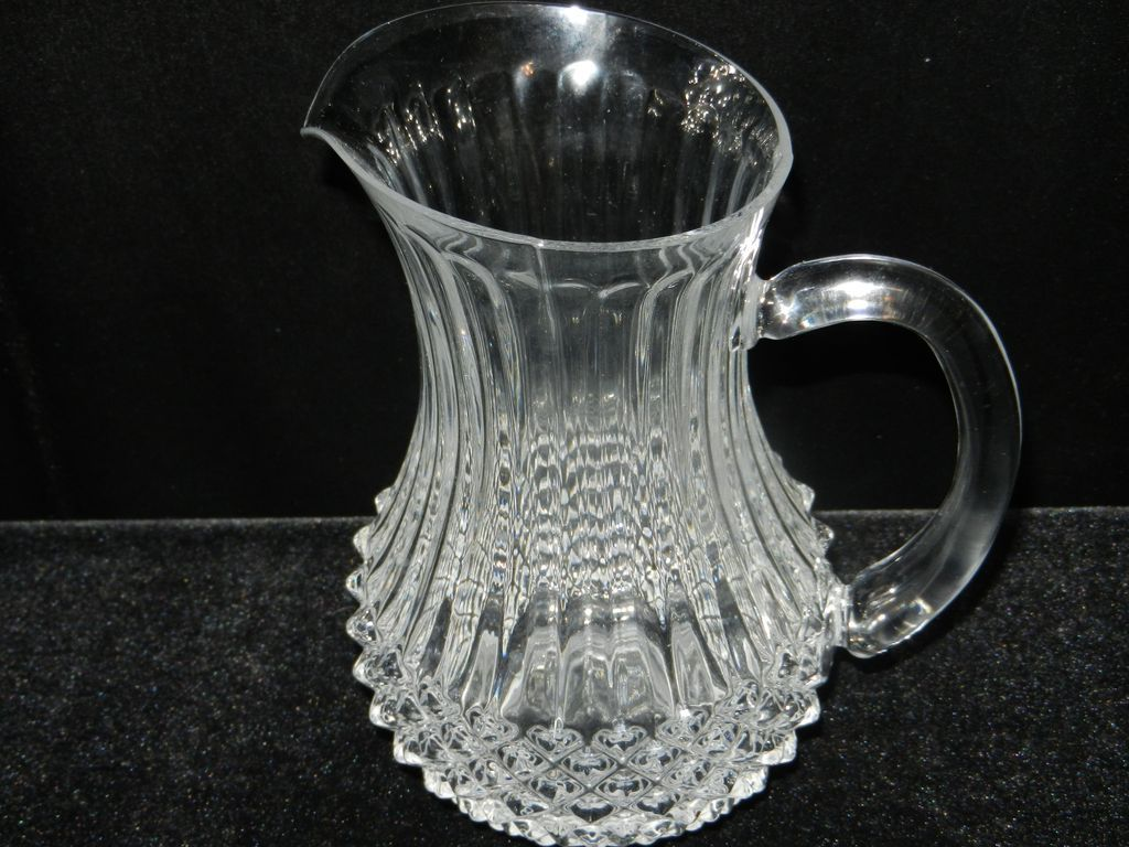 Vintage Diamond Point and Rib Pitcher