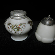 Vintage Mount Washington & Eagle Glass Salt and Pepper Shakers