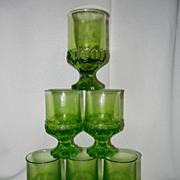 Franciscan Tiffin Madeira Citrus Green Set of 6 Wine Juice Goblets