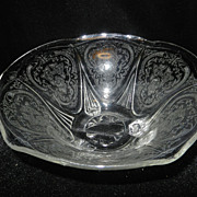 Vintage Press Glass Footed Bowl