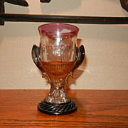 Vintage Syria Shriner or Mason Commemorative Goblet- 1908