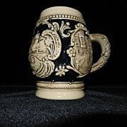 Vintage Rüdesheim German Stoneware Beer Stein