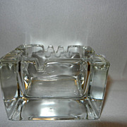 Vintage Clear Glass Ashtray