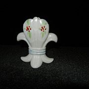 Vintage Milk Glass Fleur De Lis Toothpick Holder